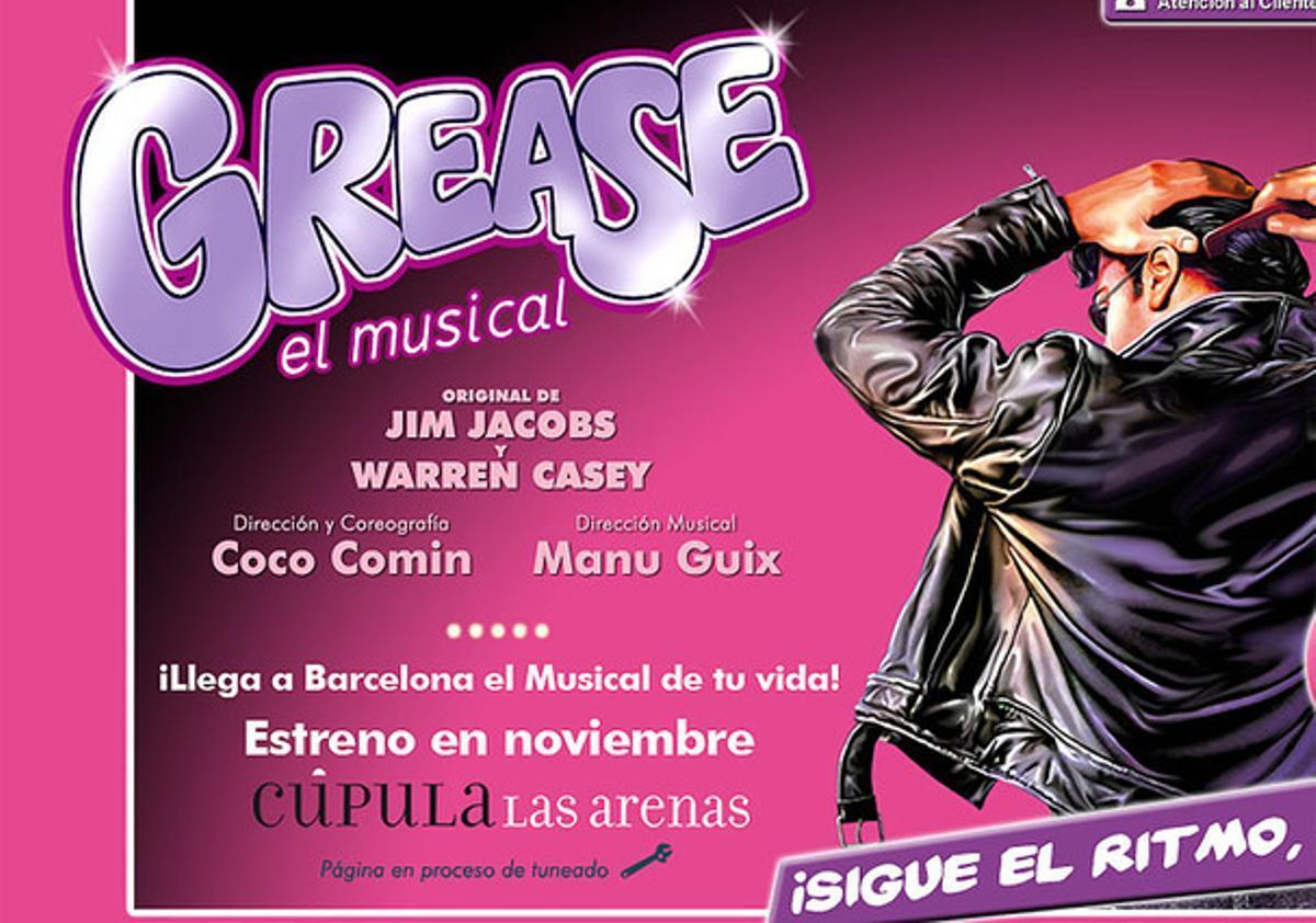 El cartel de 'Grease'.