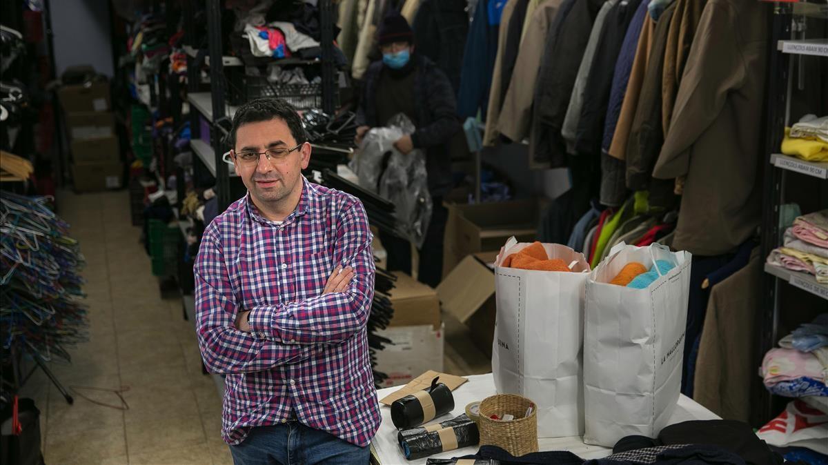 Ferran Busquets,  director de la entidad Arrels, este miércoles en su sede de la calle de Riereta.