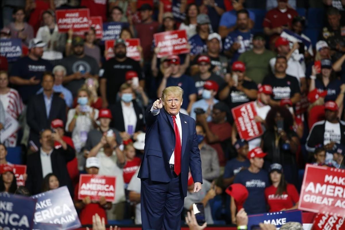 Trump, durante un mitin en Tulsa, hace unos días.