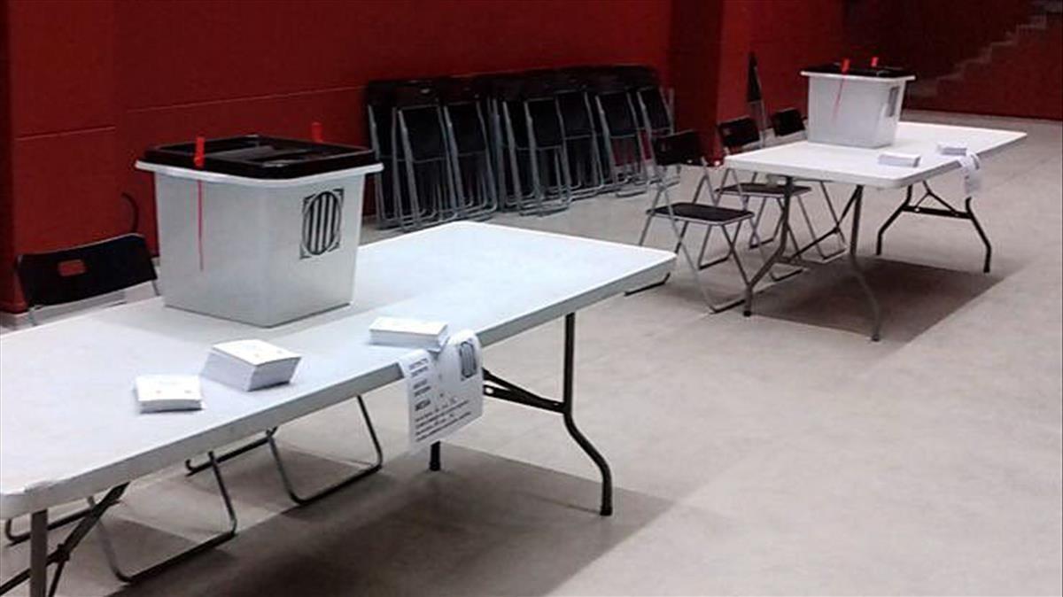 Urnas preparadas para el referéndum, el pasado 1 de octubre.