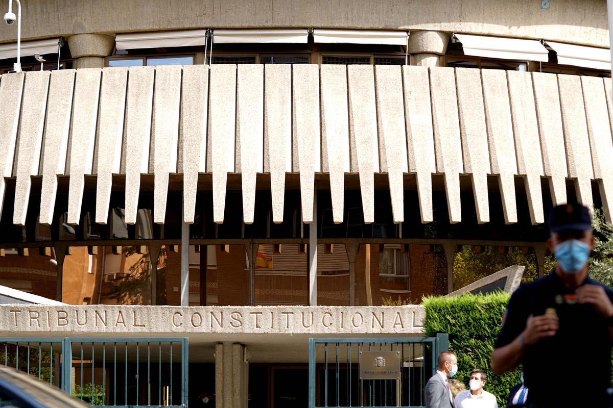 Fachada del edificio del Tribunal Constitucional.