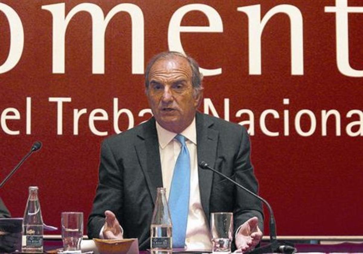 El presidente de Foment del Treball, Gay de Montellà.