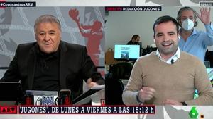 """Pedrerol se 'cuela' en 'Al rojo vivo' para sorpresa de Ferreras: """"Es ver una cámara y..."""""""