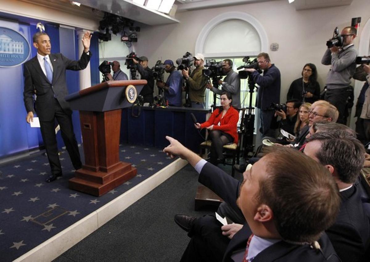 Barack Obama, durante una rueda de prensa en la Casa Blanca, el pasado 30 de abril.