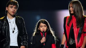 Prince Jackson, Blanket Jackson y Paris Jackson en un homenaje a Michael Jackson en el 2011.