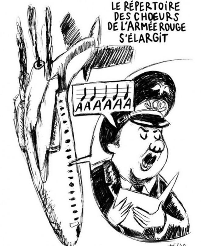 Caricatura de 'Charlie Hebdo' sobre el accidente del avión ruso.