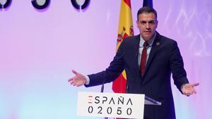 Pedro Sánchez en la presentación del proyecto España 2050.
