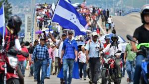 Jornada de protestas en algunas ciudades de Honduras.