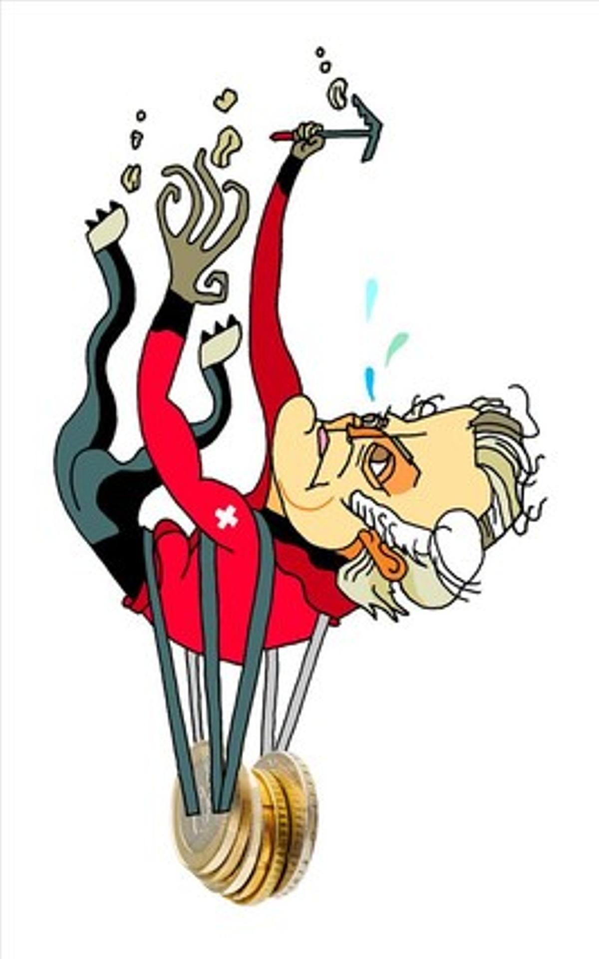 Caricatura de Luis Bárcenas.