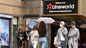Cine en Leicester Square, en Londres.
