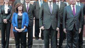 Imagen de la primera reunión del Consejo de Ministros del Gobierno de Rajoy, en diciembre del 2011.