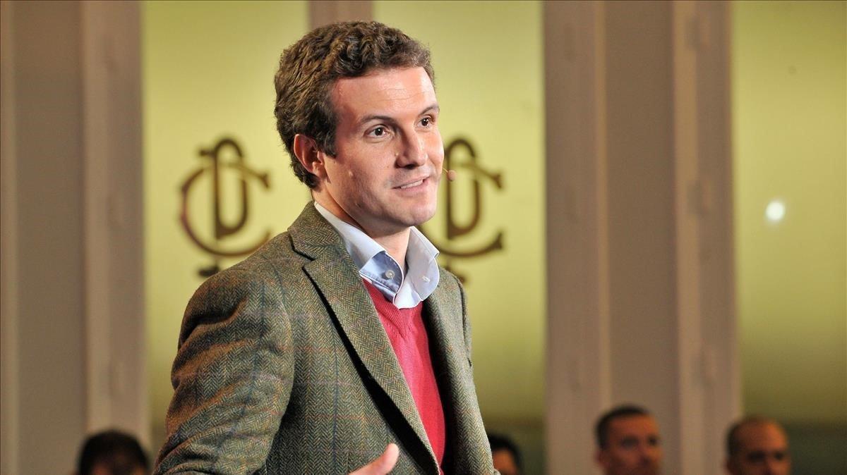 El presidente del PP, Pablo Casado, en un acto de partido en Albacete el pasado día 30.