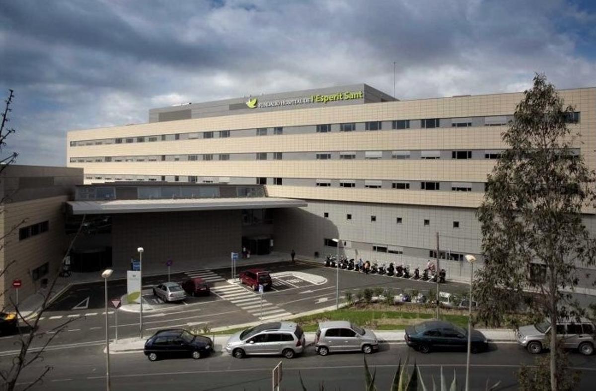 Fachada del Hospital Esperit Sant de Santa Coloma de Gramenet.