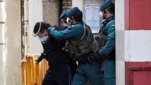 Detiención en mayo de unpresunto yihadista en un domicilio deBarcelona.