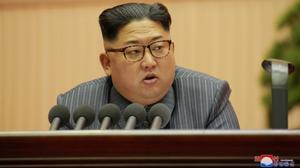 Kim Jong-un durante una reunión del Partido de los Trabajadores, el 23 de diciembre.