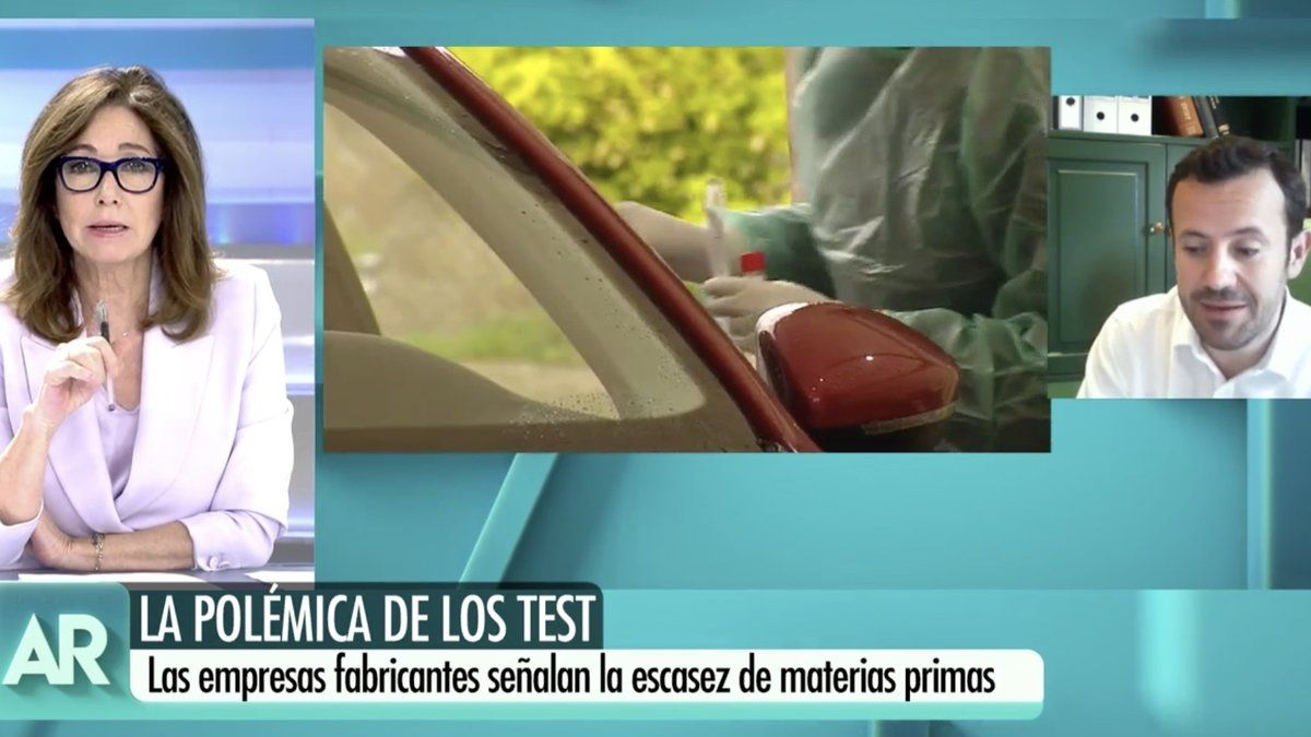 Ana Rosa Quintana desmiente un bulo difundido en su programa sobre un fabricante de test contra el coronavirus