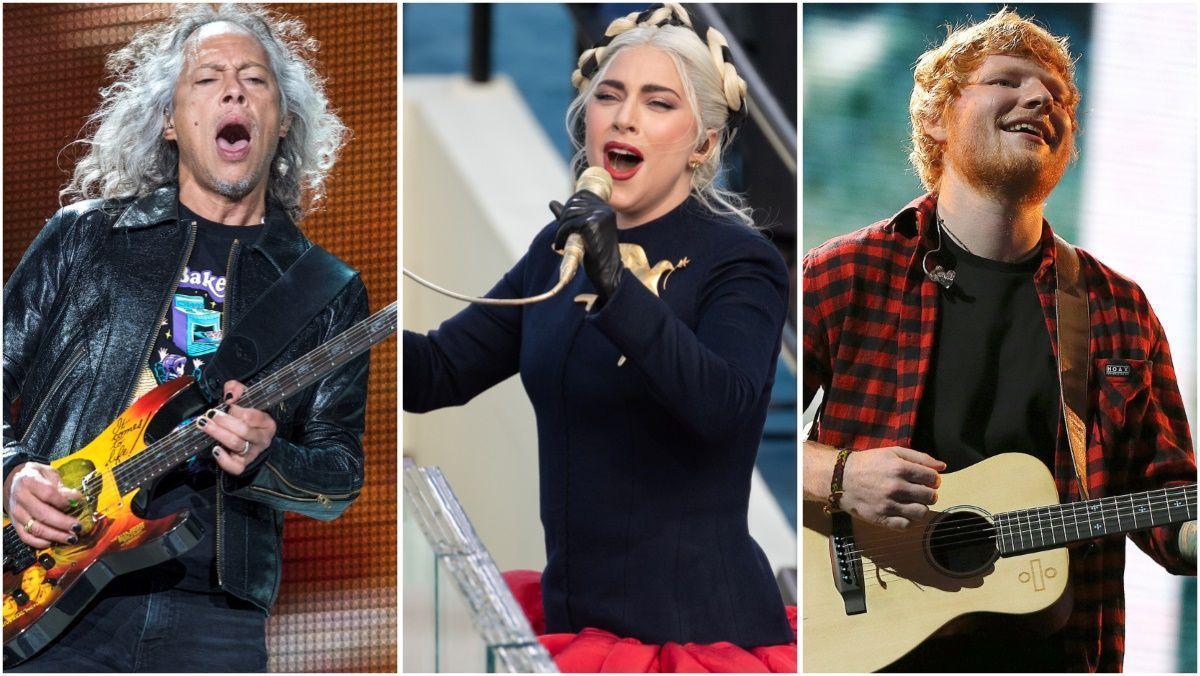 Metallica, Lady Gaga y Ed Sheeran