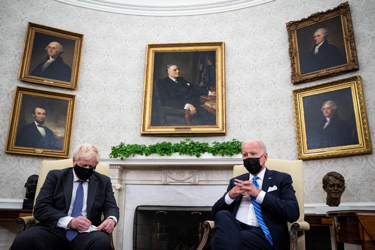 Boris Johnson y Joe Biden en su reunión