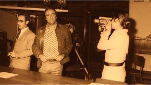 Félix Rodríguez de la Fuente, en una conferencia, en 1970.