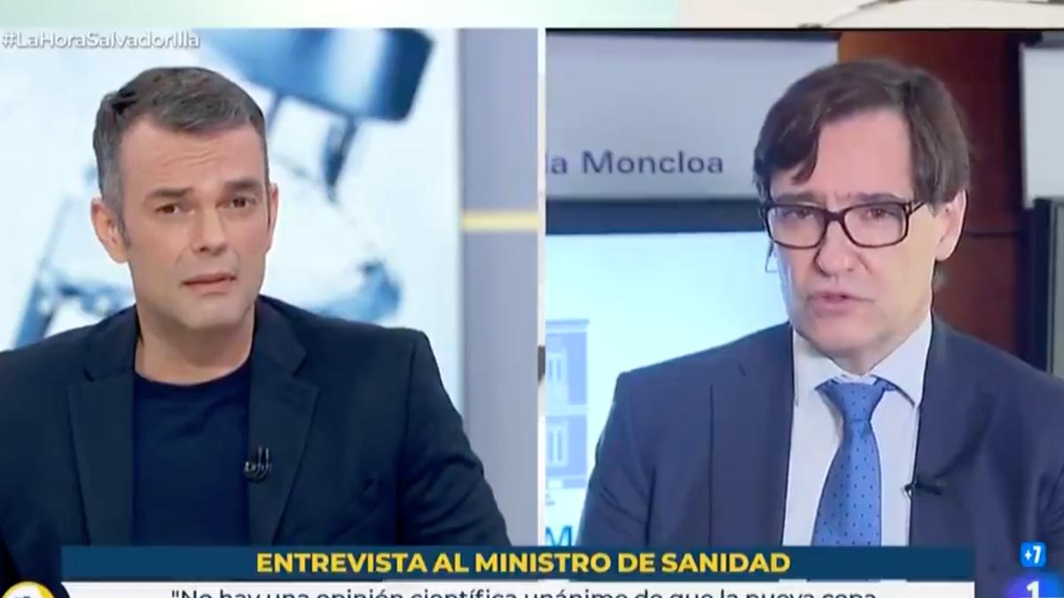 Igor López y Salvador Illa en 'La mañana de La 1'.