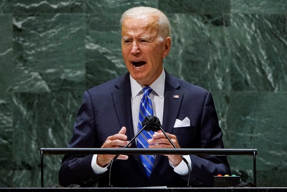 El presidente de EEUU, Joe Biden, durante su discurso en la 76º sesión de la Asamblea General de la ONU, este martes.