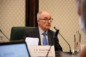 El Síndic de Greuges, Rafael Ribó, en una comparecencia en el Parlament.