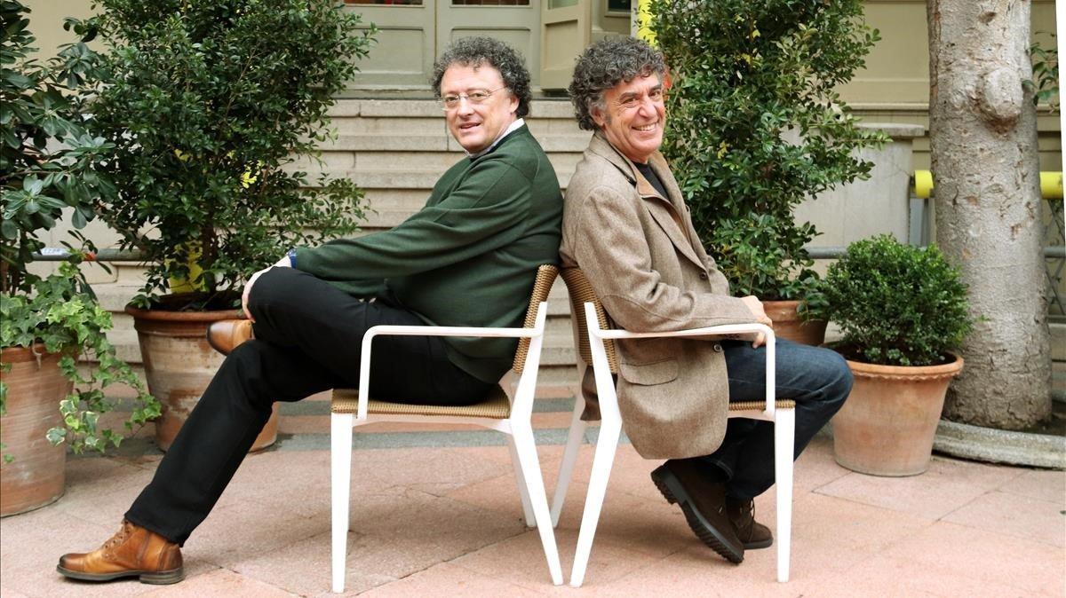 David Nel·lo (derecha) y Luis Leante, ayer en Barcelona.