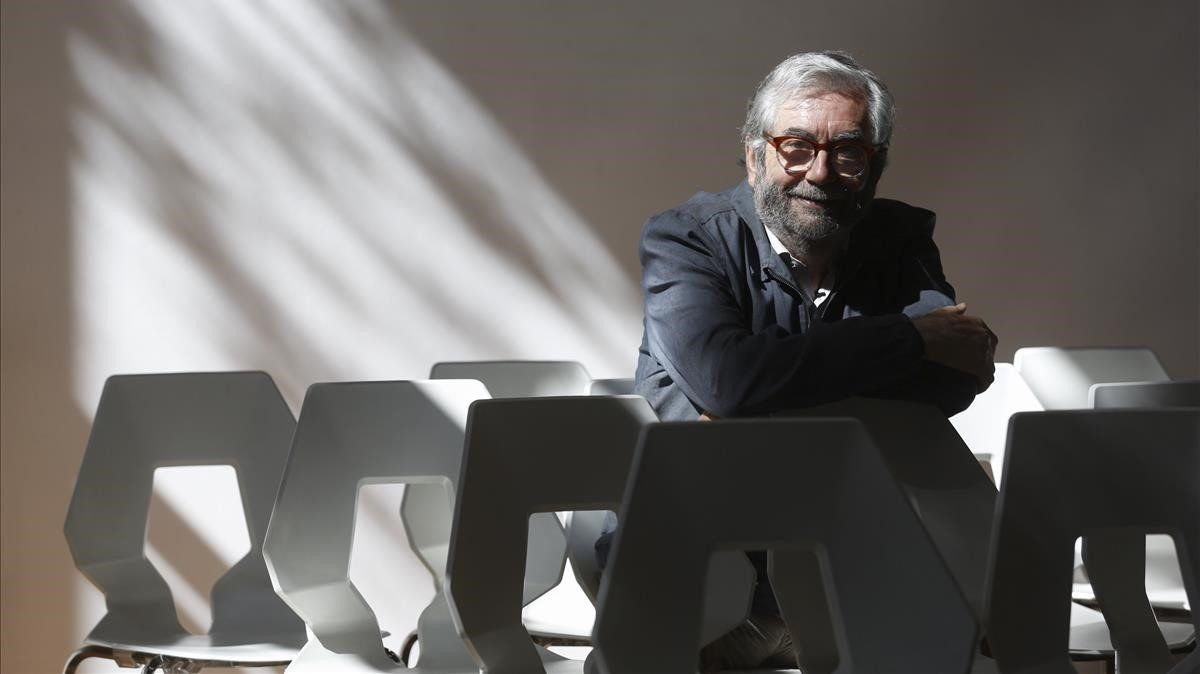 El escritor jienense Muñoz Molina, este lunes en Barcelona.