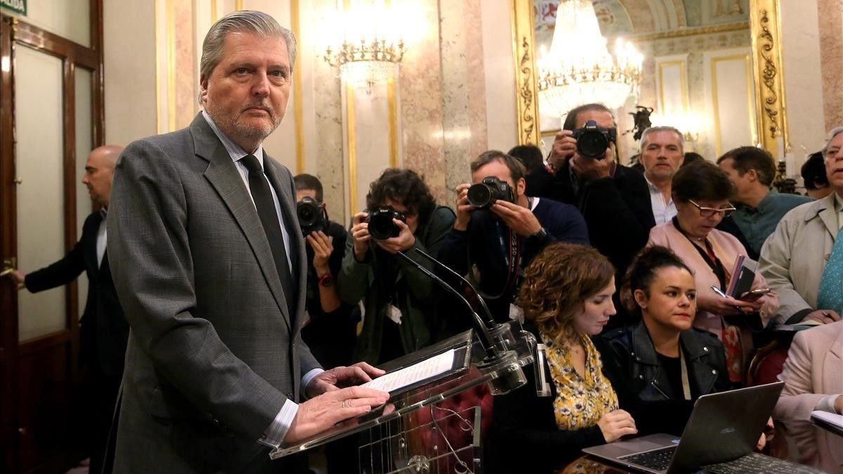 El portavoz del Gobierno,'Íñigo Méndez de Vigo, este jueves en el Congreso.