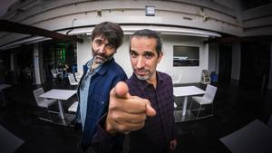 Alberto de Toro y Javier Ruiz Caldera, tras la presentación de 'MalnaZidos' en Sitges