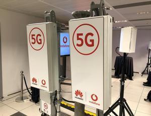 Antenas de Huawei y Vodafone usadas en pruebas 5G.