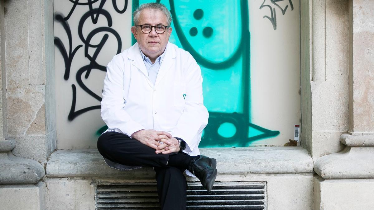 Jaume Padrós, presidente del Colegio Oficial de Médicos de Barcelona, el pasado día 13.
