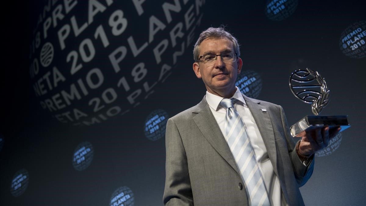 El escritor Santiago Posteguillo,en la gala del Premio Planeta 2018.