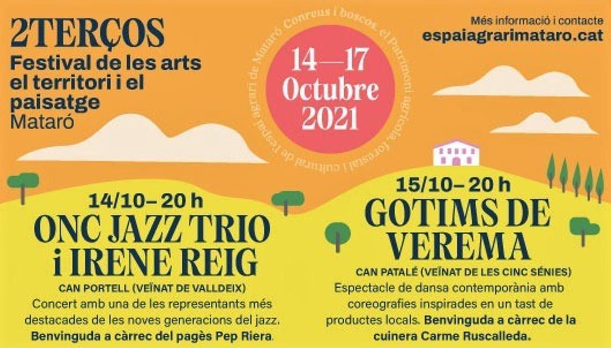Cartel del Festival 2Terços de Mataró.