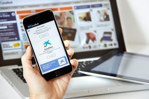 Aplicación de banca móvil de CaixaBank.