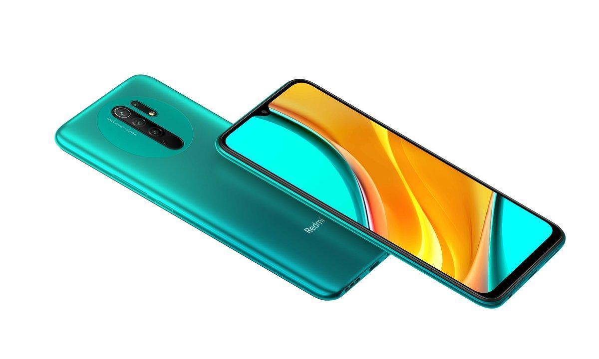 Xiaomi Redmi 9 en color verde.