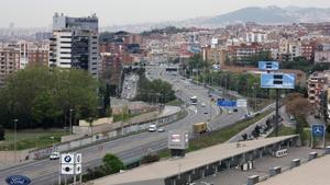 La autopista C-31 a su paso por Badalona en una imagen de archivo.