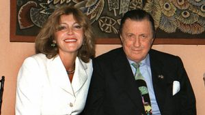 Carmen Cervera y Heini von Thyssen, en una imagen de 1997.