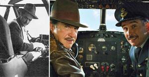 A la izquierda, el magnate Howard Hugues. Al lado, Warren Beatty y Steve Coogan en la película 'La excepción a la regla'.
