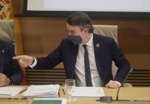 El director de Gabinete del presidente del Gobierno, Iván Redondo, a su llegada a la Comisión Mixta de Seguridad Nacional, este 27 de mayo en el Congreso.