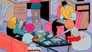 Fragmento del cartel, obra de Ana Galvañ, del salón del cómic de Barcelona para este 2019.