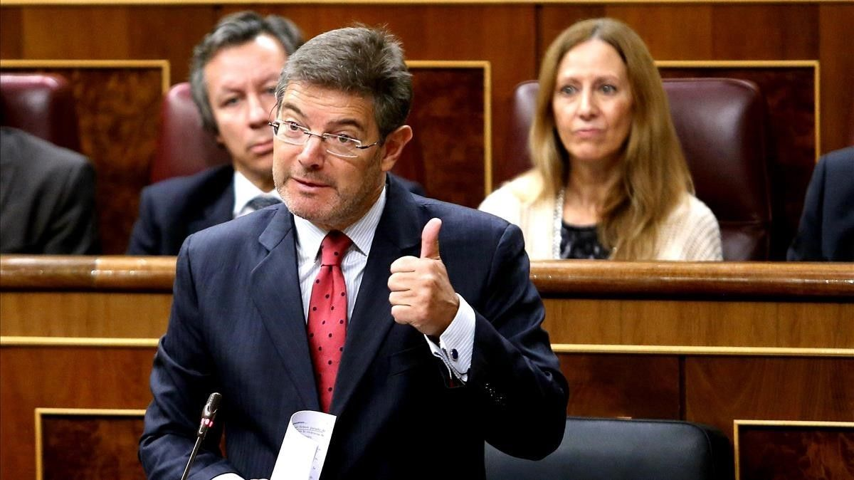 El ministro de Justicia, Rafael Catalá,en el pleno del Congreso.