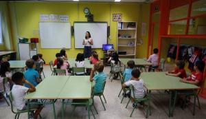 Alumnos del colegio Virgen del Cortijo de Madrid.