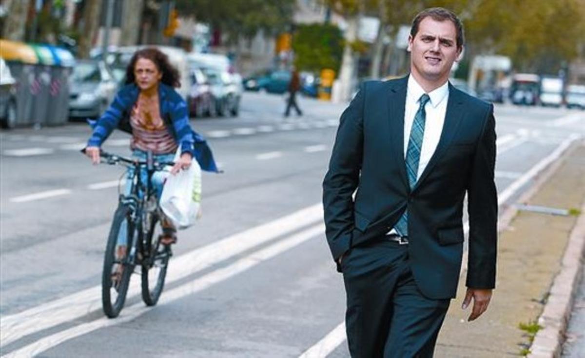 El candidato de Ciutadans, Albert Rivera, fotografiado el pasado viernes, en Barcelona.