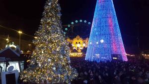 Encendido de las luces de la feria de Navidad del Port Vell.