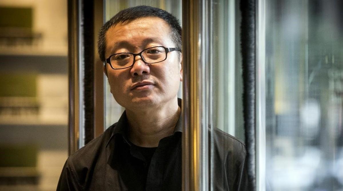 El escritor de ciencia ficción Liu Cixin, en un céntrico hotel de Barcelona.