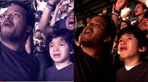 En el vídeo grabado por la madre de Luis se puede ver la emoción del niño durante el concierto de Coldplay.