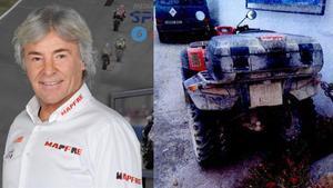 Estado en que quedó el quad que conducía Ángel Nieto tras el accidente mortal.