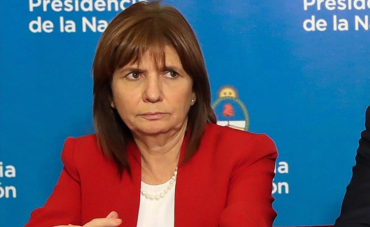 Imagen dela ministra de Seguridad Patricia Bullrich en el Gobierno de Macri en 2018.