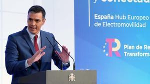 Sánchez anuncia 4.300 milions dels fons europeus per impulsar el cotxe elèctric